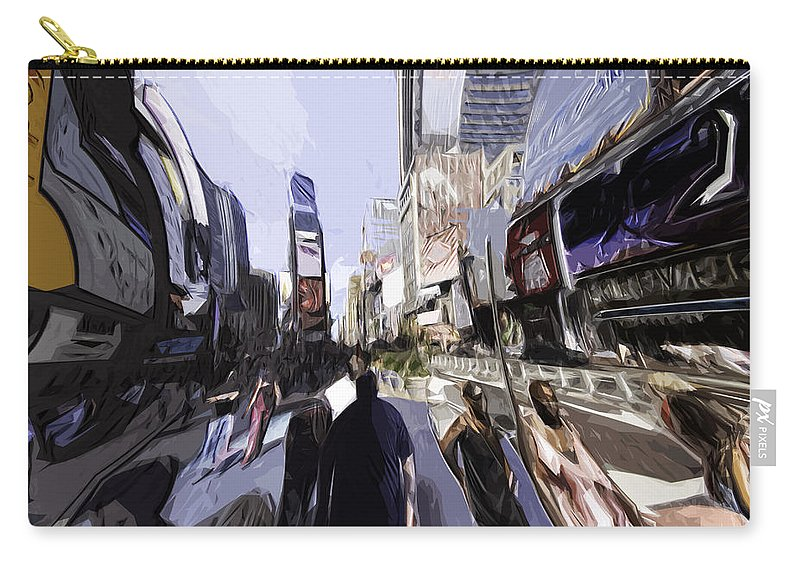 Nyc Carry-all Pouch featuring the photograph Nyc Impression by Robert Ponzoni