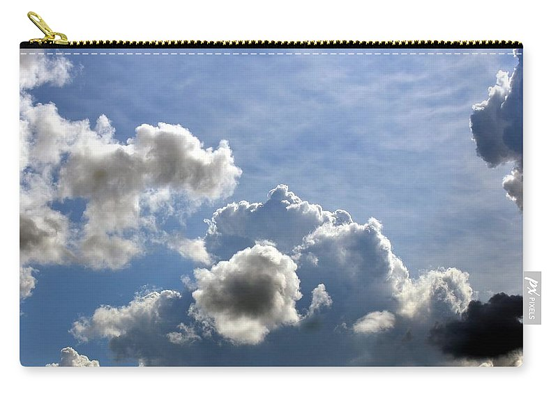 Spacious Carry-all Pouch featuring the photograph O Spacious Skies by Maria Urso