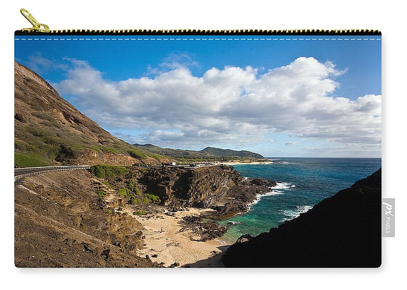 Oahu Carry-all Pouch featuring the photograph Oahu Coastal Getaway by Mike Reid