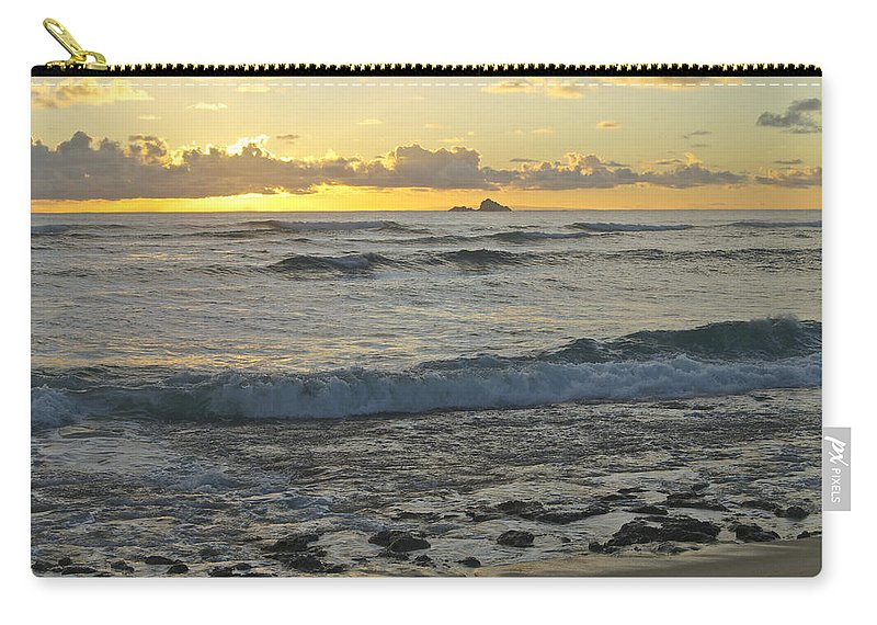 Landscape Carry-all Pouch featuring the photograph Oahu Morning 6835 by Michael Peychich