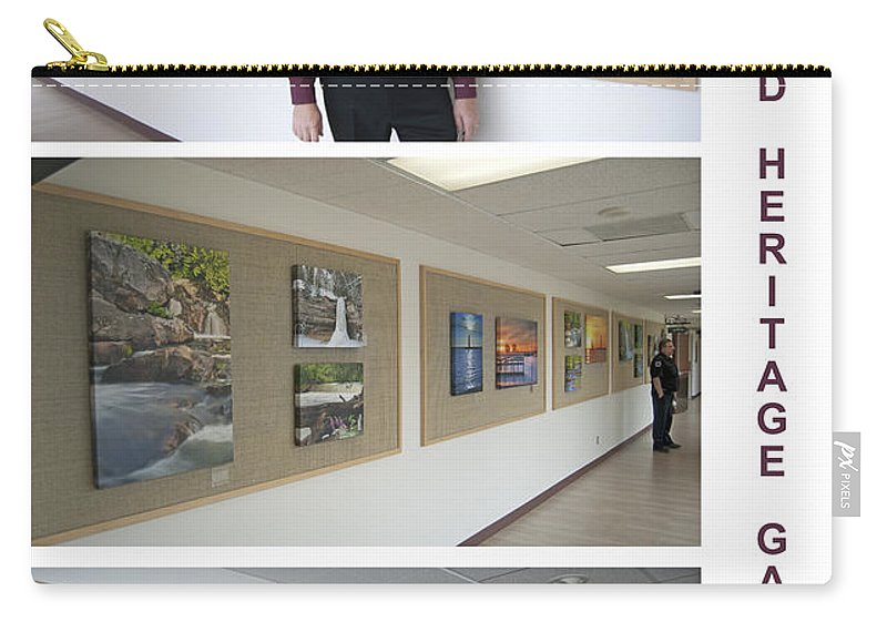 Oakwood Carry-all Pouch featuring the photograph Oakwood Heritage Gallery Exhibit by Michael Peychich