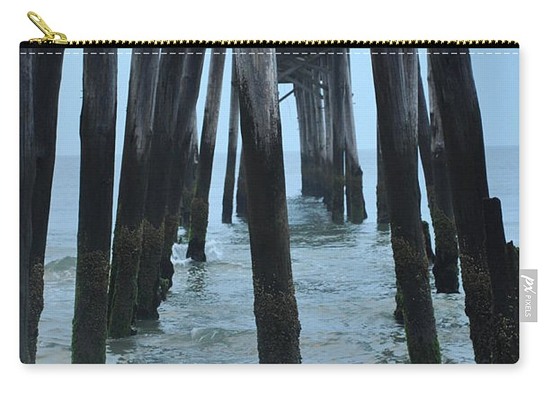 Ocean City 59th Street Pier Carry-all Pouch featuring the photograph Ocean City 59th Street Pier by Bill Cannon