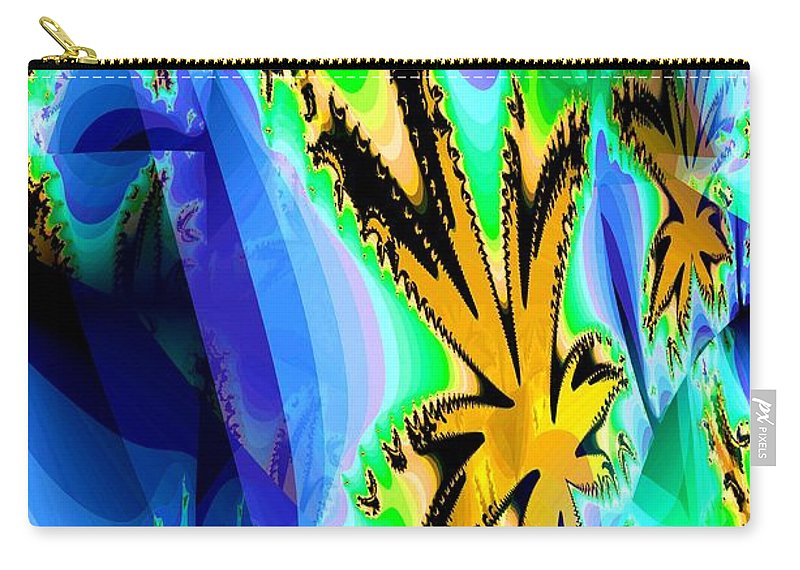 Ocean Carry-all Pouch featuring the digital art Ocean Stars by Maria Urso