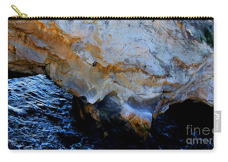 Nature Carry-all Pouch featuring the photograph Shell Beach Ocean Tunnel by Tap On Photo