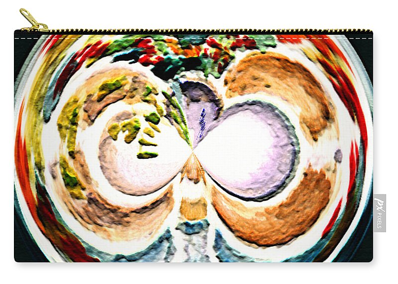 Digital Art Carry-all Pouch featuring the painting Oceana Orb by Paula Ayers