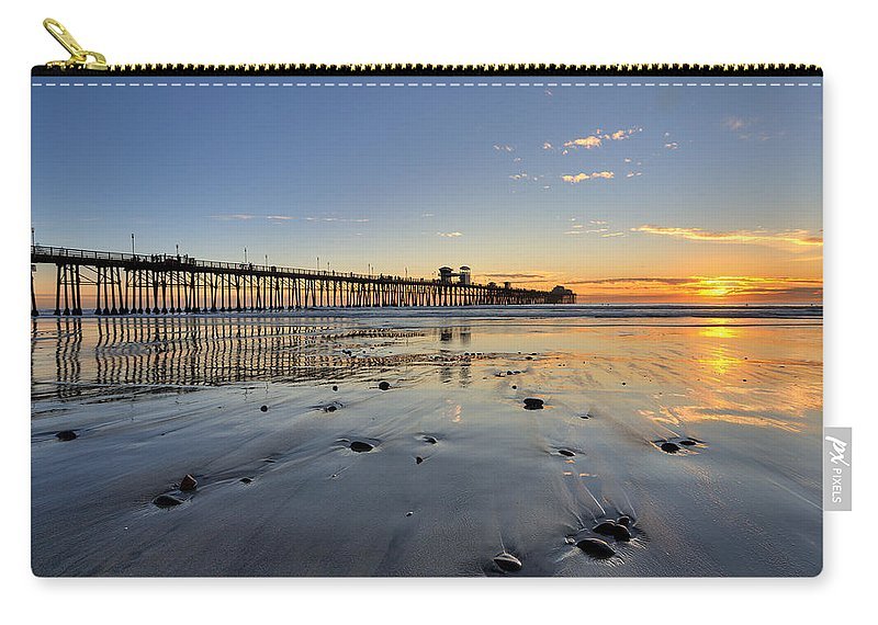 California Carry-all Pouch featuring the photograph Oceanside Pier by Peter Tellone