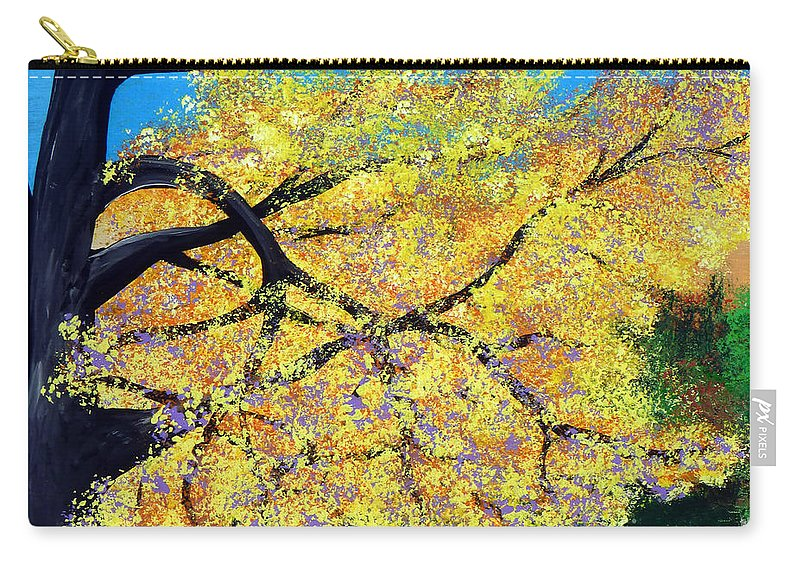 Indiana Carry-all Pouch featuring the painting October Fall Foliage by Alys Caviness-Gober