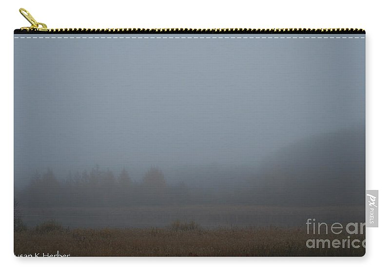 Outdoors Carry-all Pouch featuring the photograph October Fog by Susan Herber