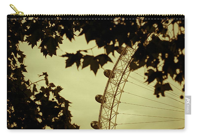 Tree Carry-all Pouch featuring the photograph October Mist by Jan Bickerton