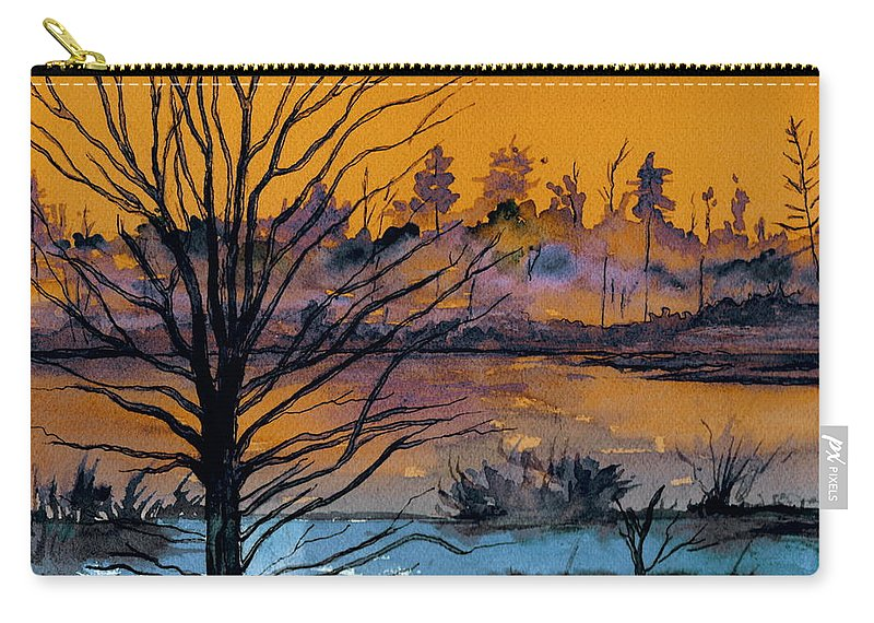 Landscape Carry-all Pouch featuring the painting October Sky by Brenda Owen