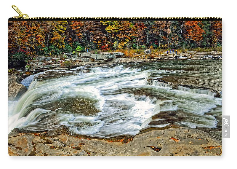 Pennsylvania Carry-all Pouch featuring the photograph Ohiopyle Falls by Steve Harrington