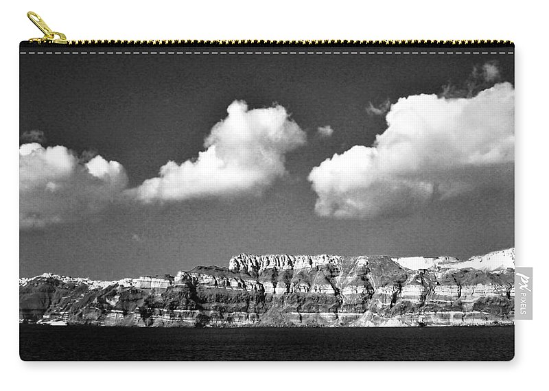 Clouds Carry-all Pouch featuring the photograph Oia Greece by Floyd Menezes