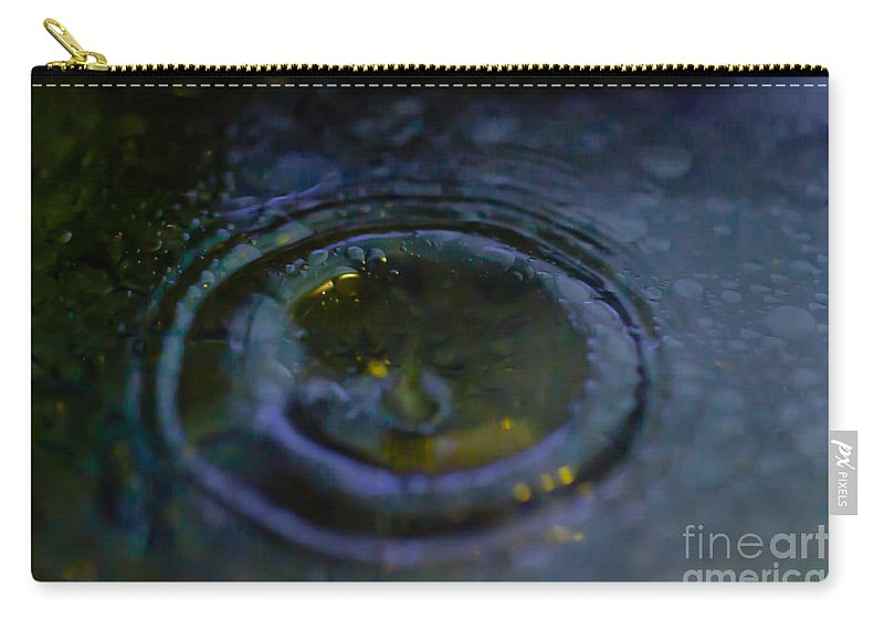 Oil Carry-all Pouch featuring the photograph Oily Drop by Scott Hervieux