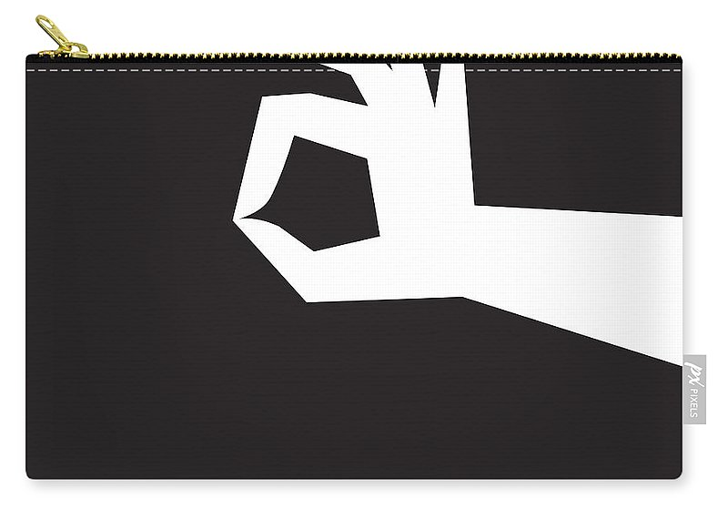 Graphic Carry-all Pouch featuring the digital art Okay by Tim Nyberg