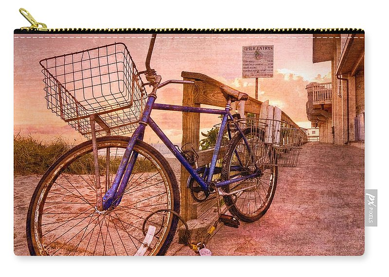 Clouds Carry-all Pouch featuring the photograph Ol' Bike by Debra and Dave Vanderlaan