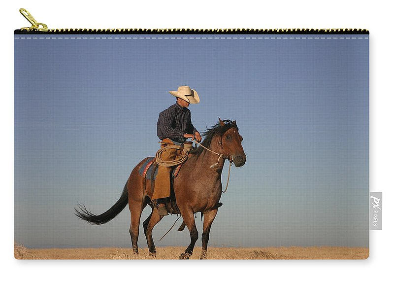 Cowboy Carry-all Pouch featuring the photograph Ol Chilly Pepper by Diane Bohna