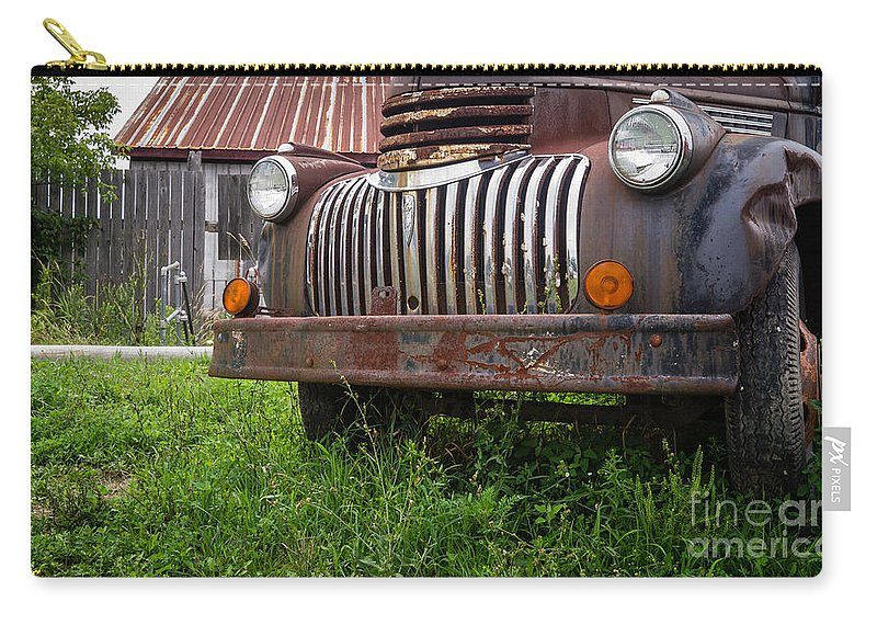 Vermont Carry-all Pouch featuring the photograph Old Abandoned Pickup Truck by Edward Fielding