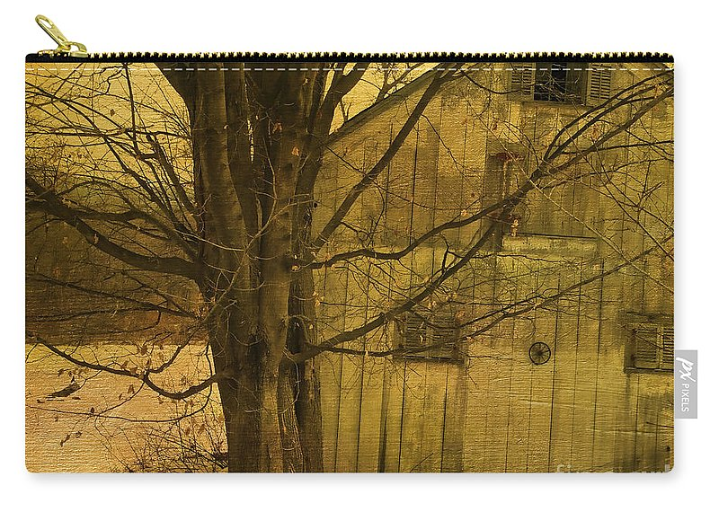 Tree Carry-all Pouch featuring the photograph Old And Crooked by Deborah Benoit