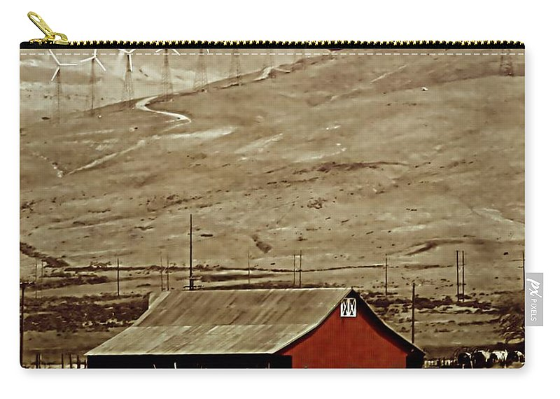 Barn Carry-all Pouch featuring the photograph Old And New by Ellen Heaverlo