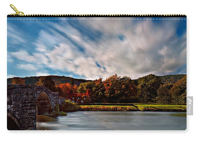 Autumn Carry-all Pouch featuring the photograph Old Bridge In The Fall by Beverly Cash