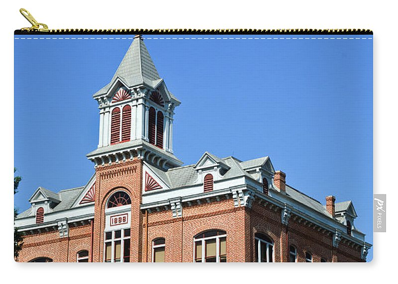 Powhatan Carry-all Pouch featuring the photograph Old Courthouse Powhatan Arkansas 1 by Douglas Barnett