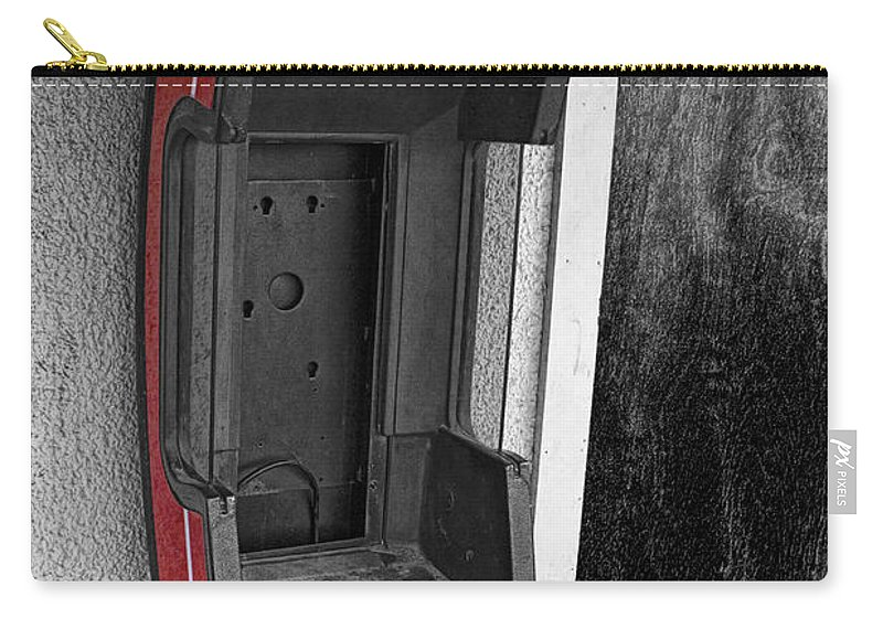 Art Carry-all Pouch featuring the photograph Old Empty Phone Booth by Randall Nyhof