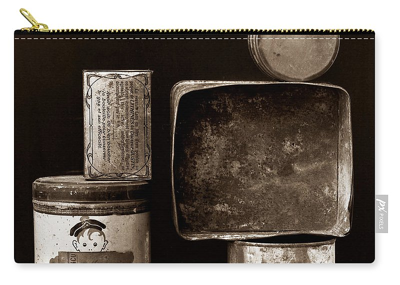 White Carry-all Pouch featuring the photograph Old Fashioned Iron Boxes. by Bernard Jaubert