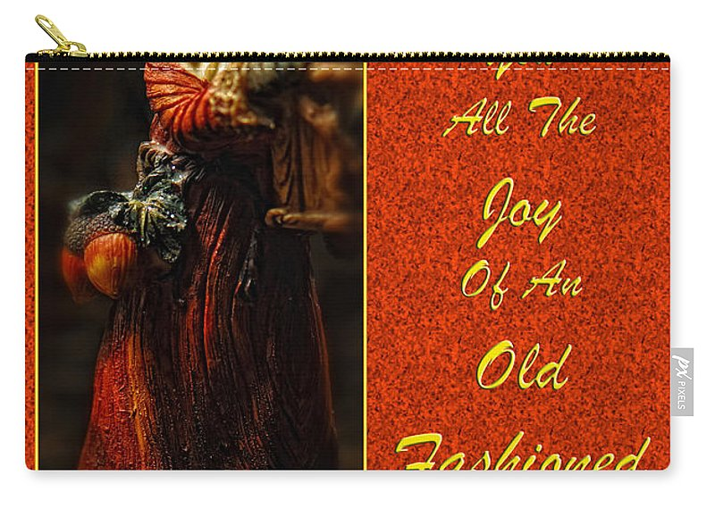 Christmas Carry-all Pouch featuring the photograph Old Fashioned Santa Christmas Card by Lois Bryan