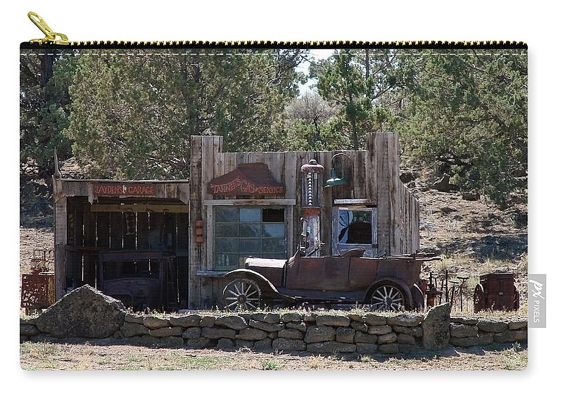 Model T Carry-all Pouch featuring the photograph Old Filling Station by Athena Mckinzie