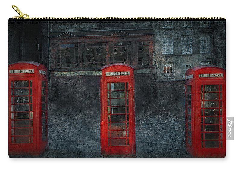 Architecture Carry-all Pouch featuring the digital art Old Friends by Svetlana Sewell