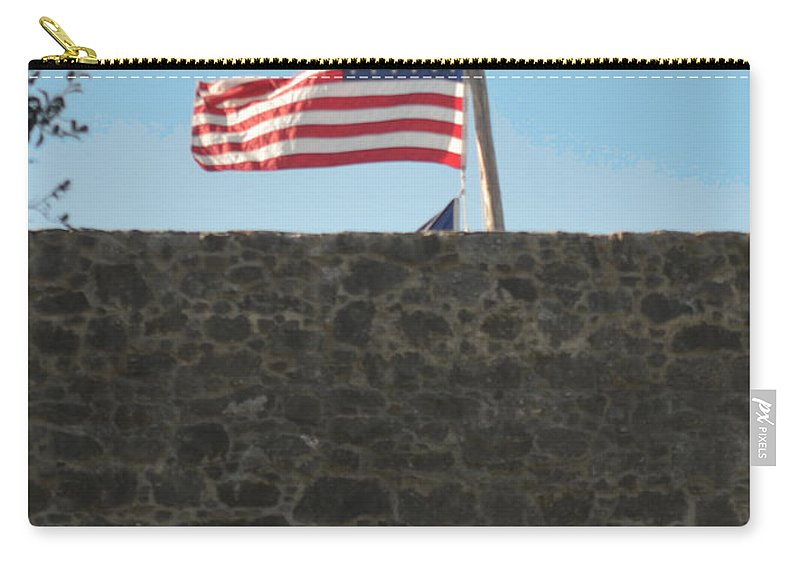 Flag Carry-all Pouch featuring the photograph Old Glory by Donna Brown