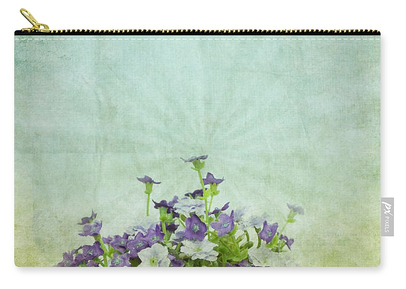 Abstract Carry-all Pouch featuring the photograph Old Grunge Paper Flowers Pattern by Setsiri Silapasuwanchai
