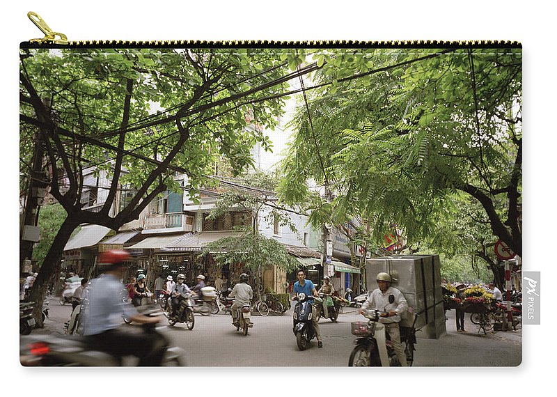 Asia Carry-all Pouch featuring the photograph Old Hanoi Life by Shaun Higson