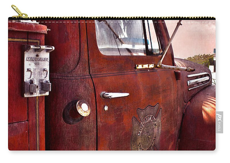 Fire Carry-all Pouch featuring the photograph Old Hero Limited Edition by Robin Lewis