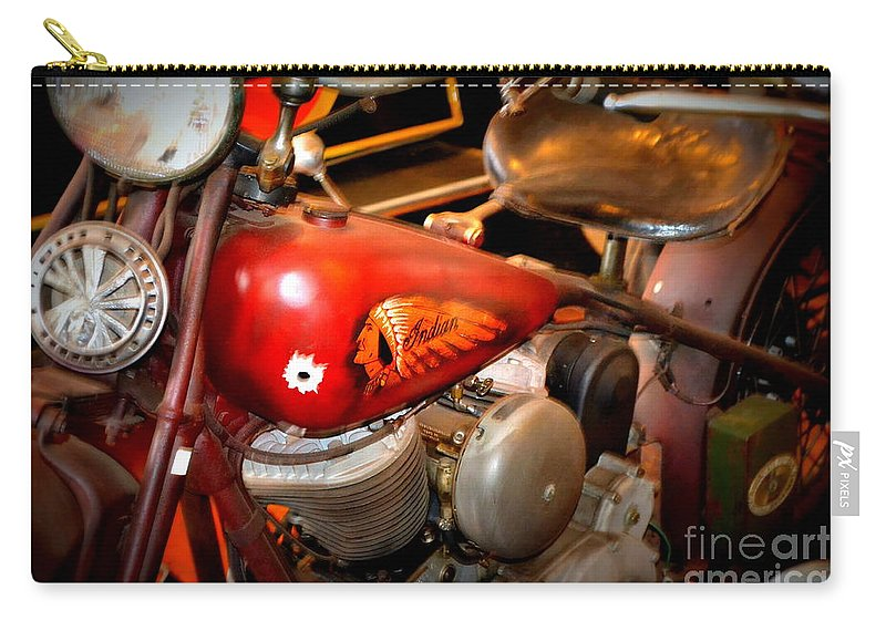 Indian Carry-all Pouch featuring the photograph Old Indian by Kevin Fortier