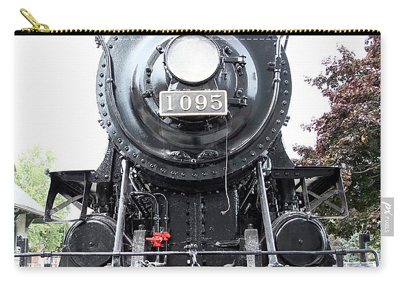 Train Carry-all Pouch featuring the photograph Old Locomotive by Valentino Visentini
