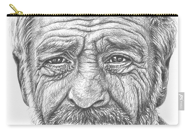 Old Man From Greece Carry All Pouch For Sale By Nicole Zeug