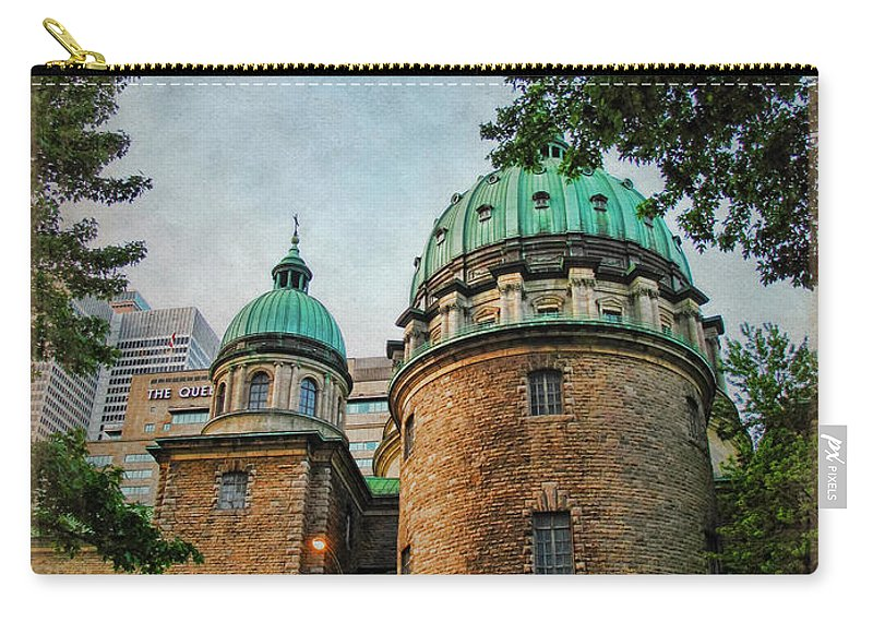 Cathedral Carry-all Pouch featuring the photograph Old Montreal Church by Joan Minchak