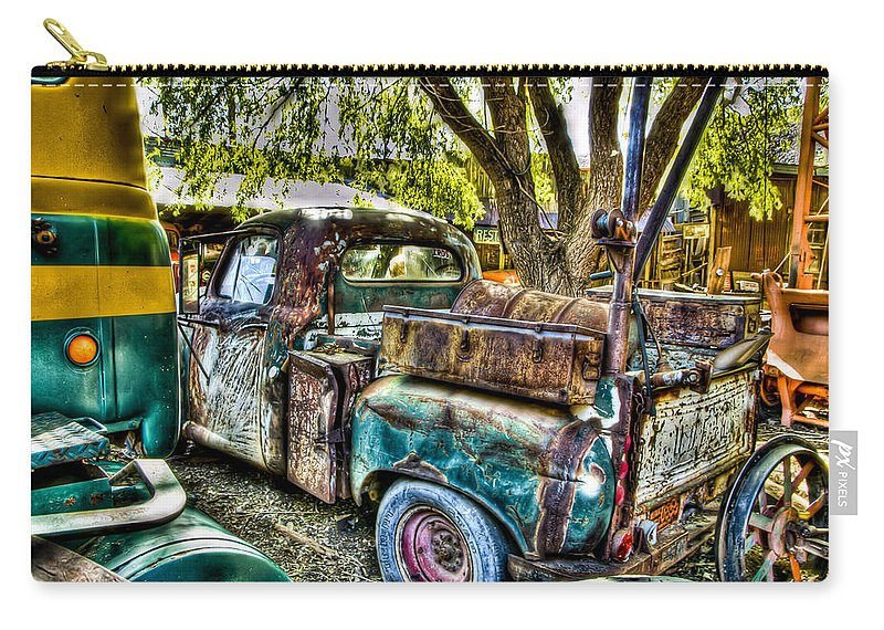 Old Truck Carry-all Pouch featuring the photograph Old Pickup by Jon Berghoff