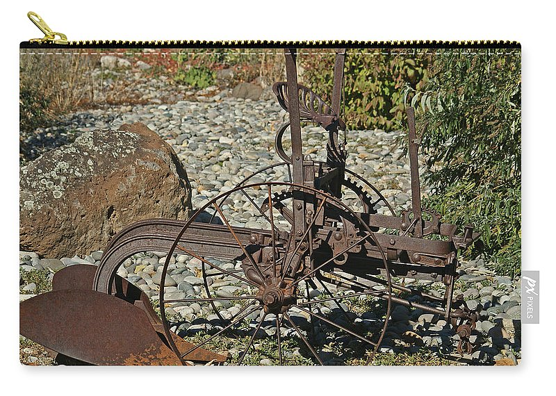 Plow Carry-all Pouch featuring the photograph Old Plow by Ernie Echols