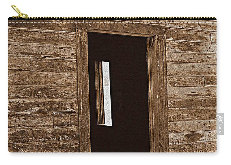 Ranch Carry-all Pouch featuring the photograph Old Ranch Hand Cabin Entry by Kathy Sampson