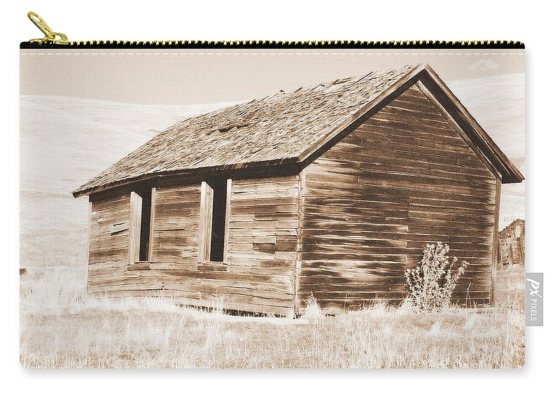 Ranch Carry-all Pouch featuring the photograph Old Ranch Hand Cabin Ll by Kathy Sampson