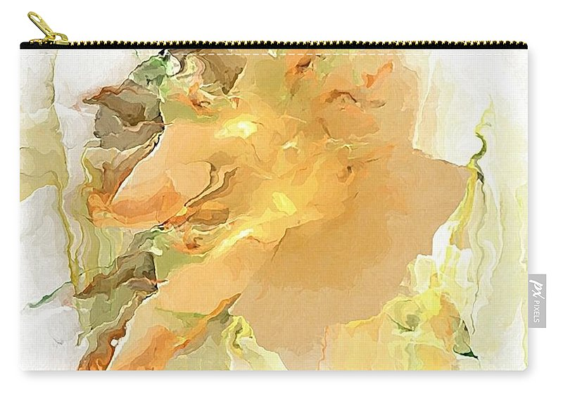 Painting Carry-all Pouch featuring the digital art Old Sailor by Marek Lutek
