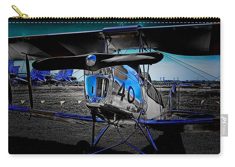 Tiger Moth Carry-all Pouch featuring the photograph Old School by Douglas Barnard