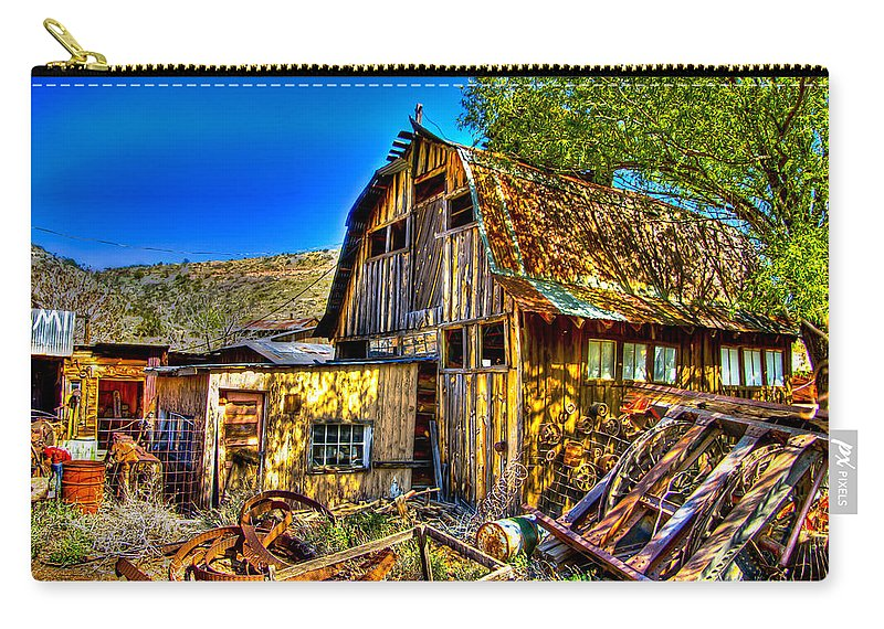 Old Shed Carry-all Pouch featuring the photograph Old Shed by Jon Berghoff