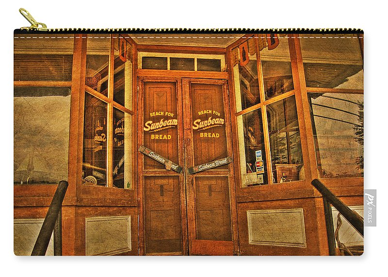 Store Front Carry-all Pouch featuring the photograph Old Store Front by Todd Hostetter