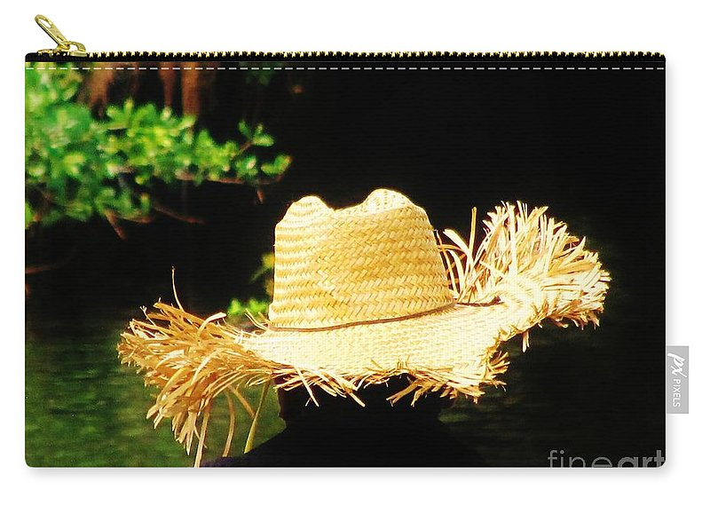Fishing Carry-all Pouch featuring the photograph Old Straw Hat by Keri West
