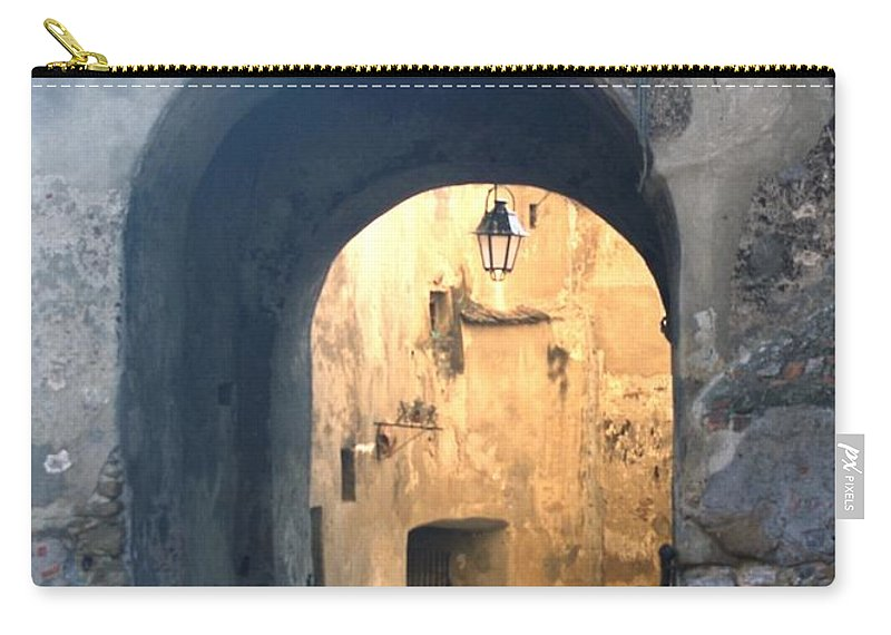 Sighisoara Carry-all Pouch featuring the photograph Old town gate 1 by Amalia Suruceanu