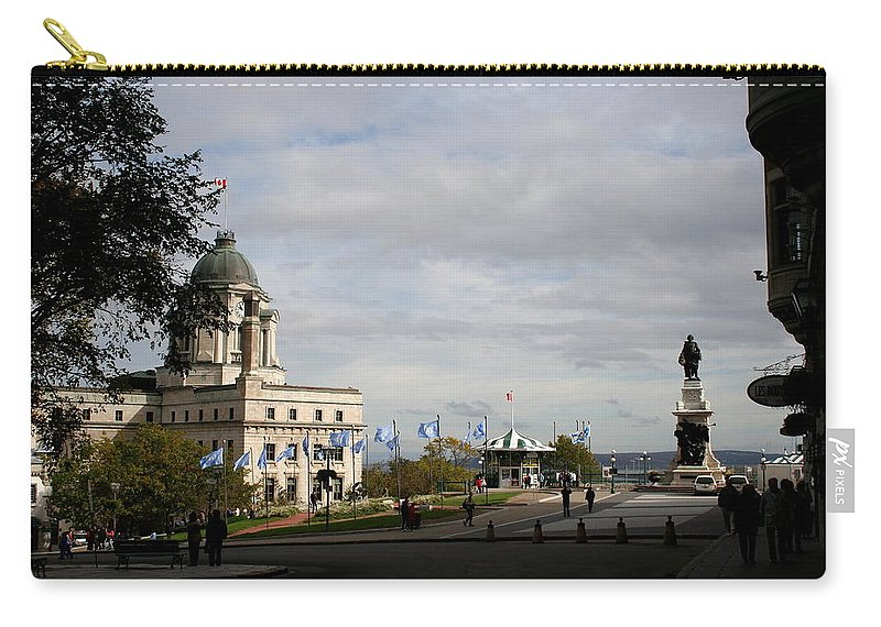 Old Town Carry-all Pouch featuring the photograph Old Town Quebec by Christiane Schulze Art And Photography