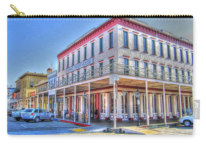 Street Corner Carry-all Pouch featuring the photograph Old Towne Sacramento by Barry Jones